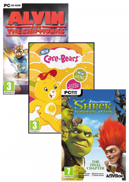 PC A12 (Shrek Forever after+Care Bears+Alvin) Paket