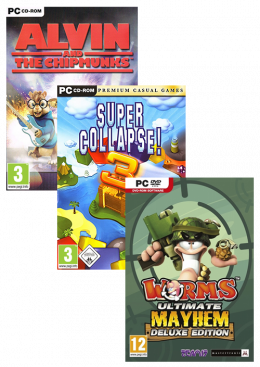 PC A13 (Worms Ultimate+Super Collapse 3+Alvin) Paket