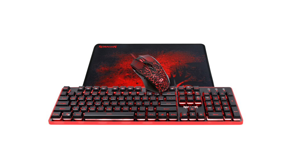 OUTLET 3 in 1 Combo S107 Keyboars, Mouse and Mousepad