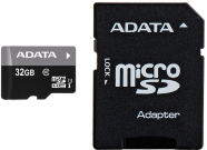 MICRO SD 32GB AData + SD adapter AUSDH32GUICL10-RA1